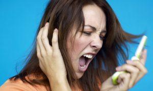 Woman Screaming Mobile