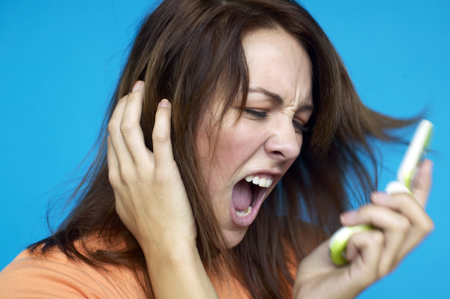 Woman Screaming Mobile