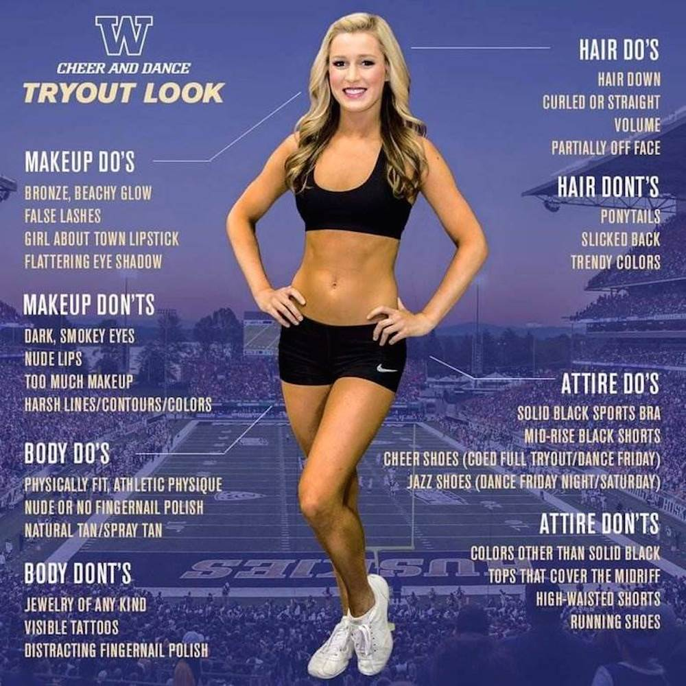 cheerleader tryout poster