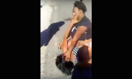 girl fight one arm