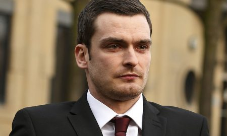 Former Sunderland soccer player Adam Johnson leaves Bradford Crown Court in Bradford, northern England