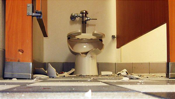 Blasted Toilet