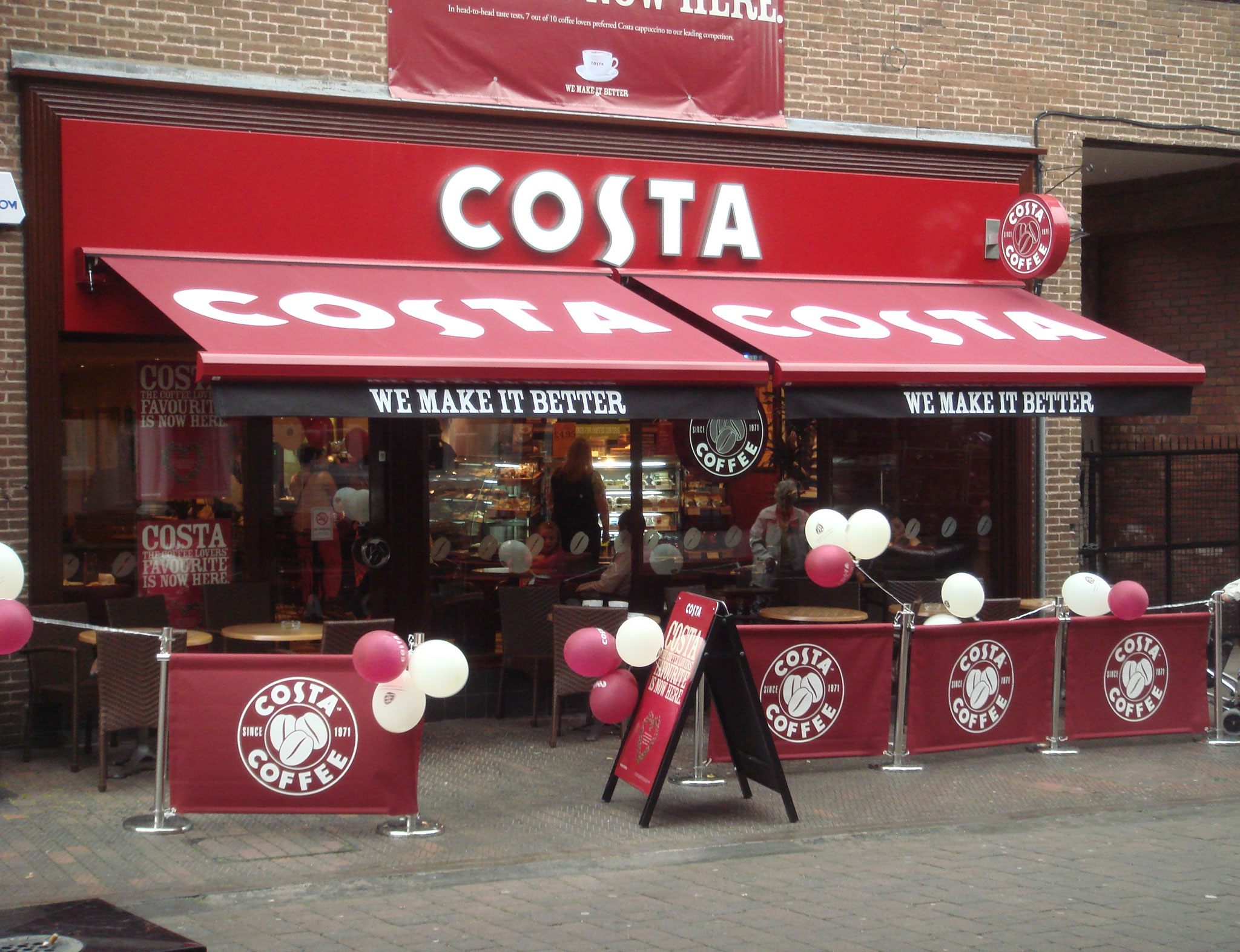 Costa Coffee Interior Design