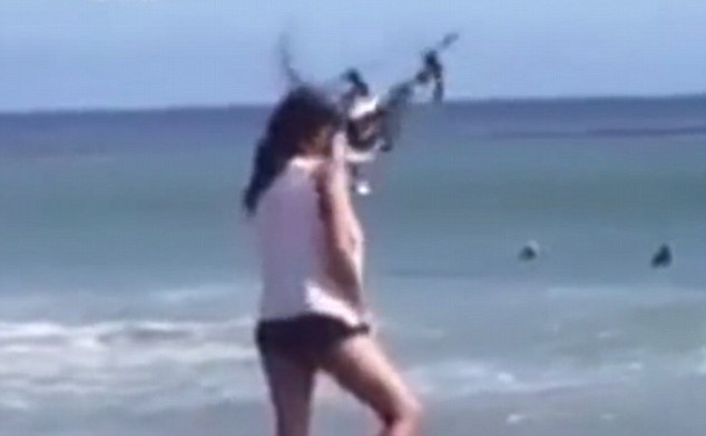 Watch This Drone Smash Into A Models Face During Photoshoot VIDEO