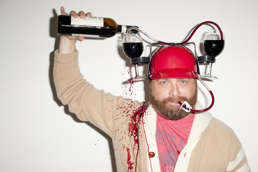 Drunk wine