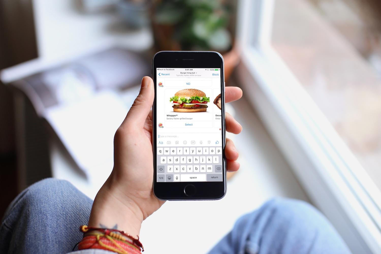 Facebook Messenger Burger King