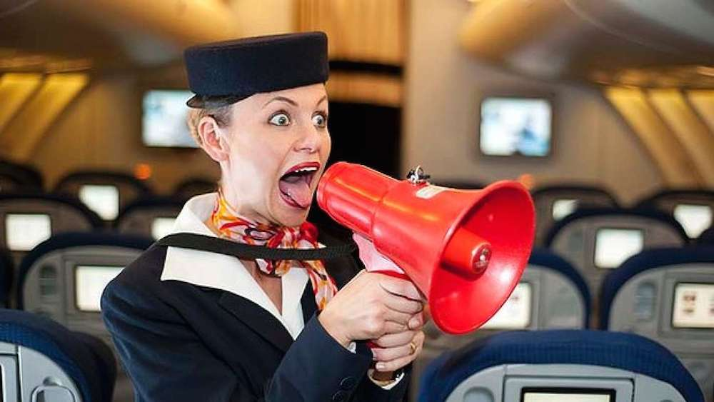 Flight attendant angry