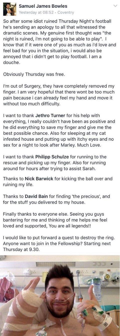 Sam Bowles Facebook