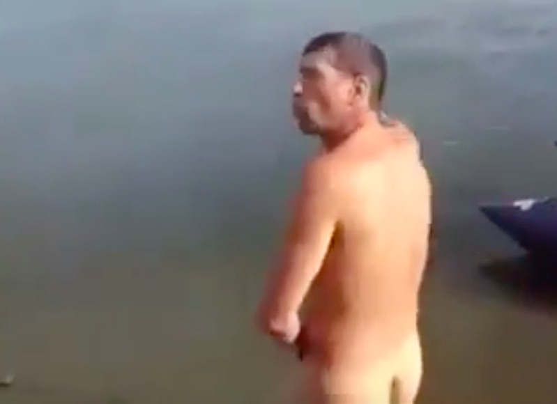 naked crazy russian man