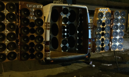80 speakers van