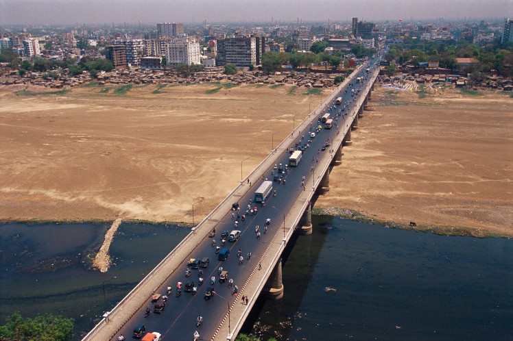 Nehru bridge ; Ahmedabad ; Gujarat ; India