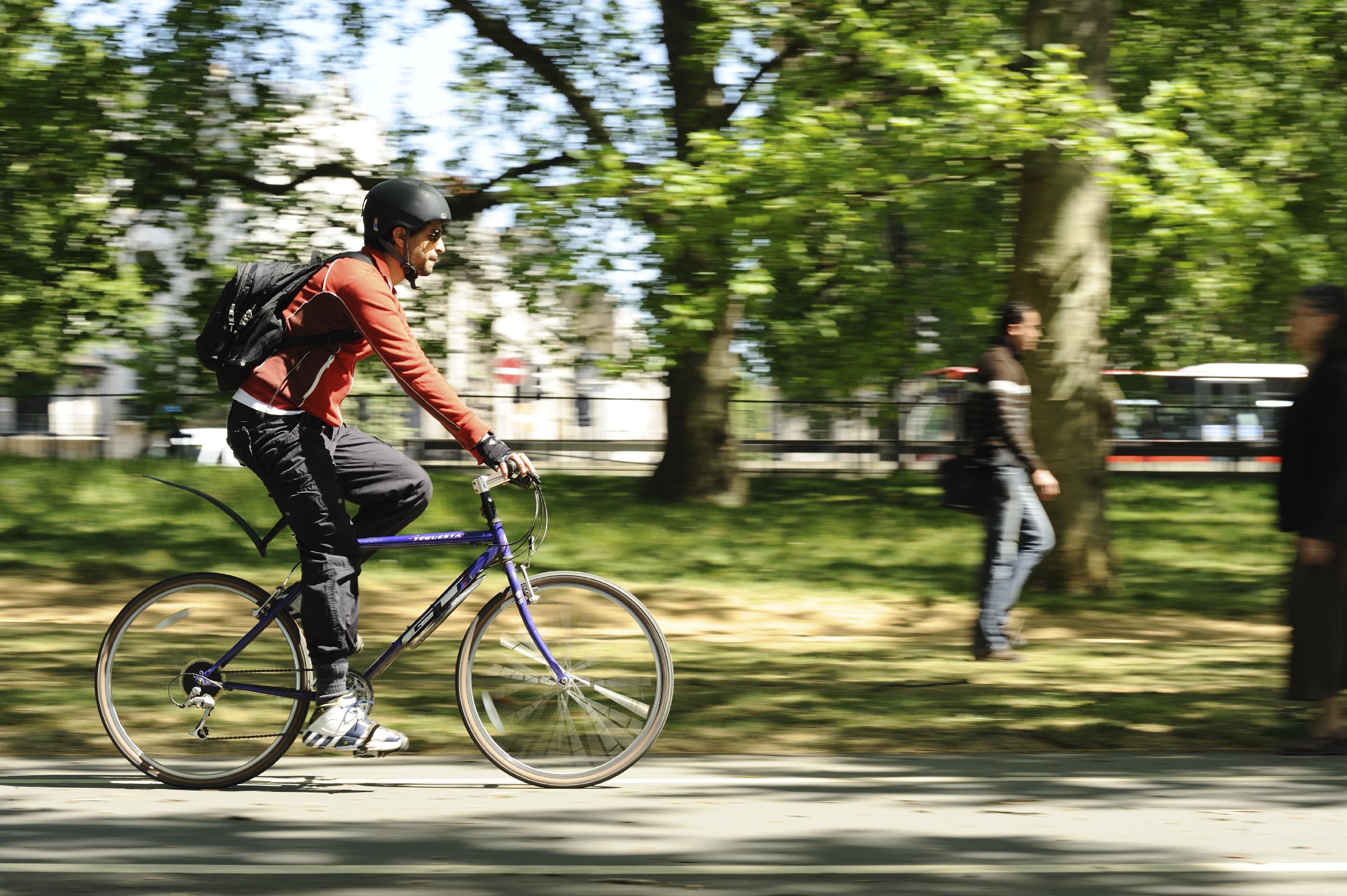 Cyclist hyde park