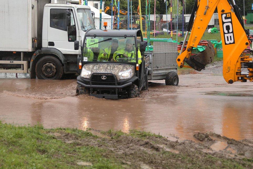Glastonbury flooded