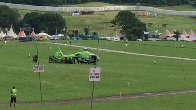 Glastonbury helicopter