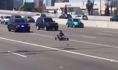 Go kart police chase