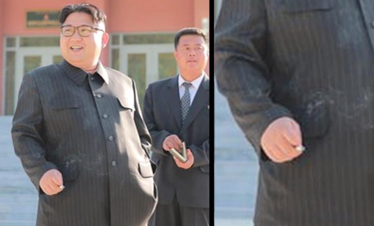 Kim Jong Un Caught Smokin