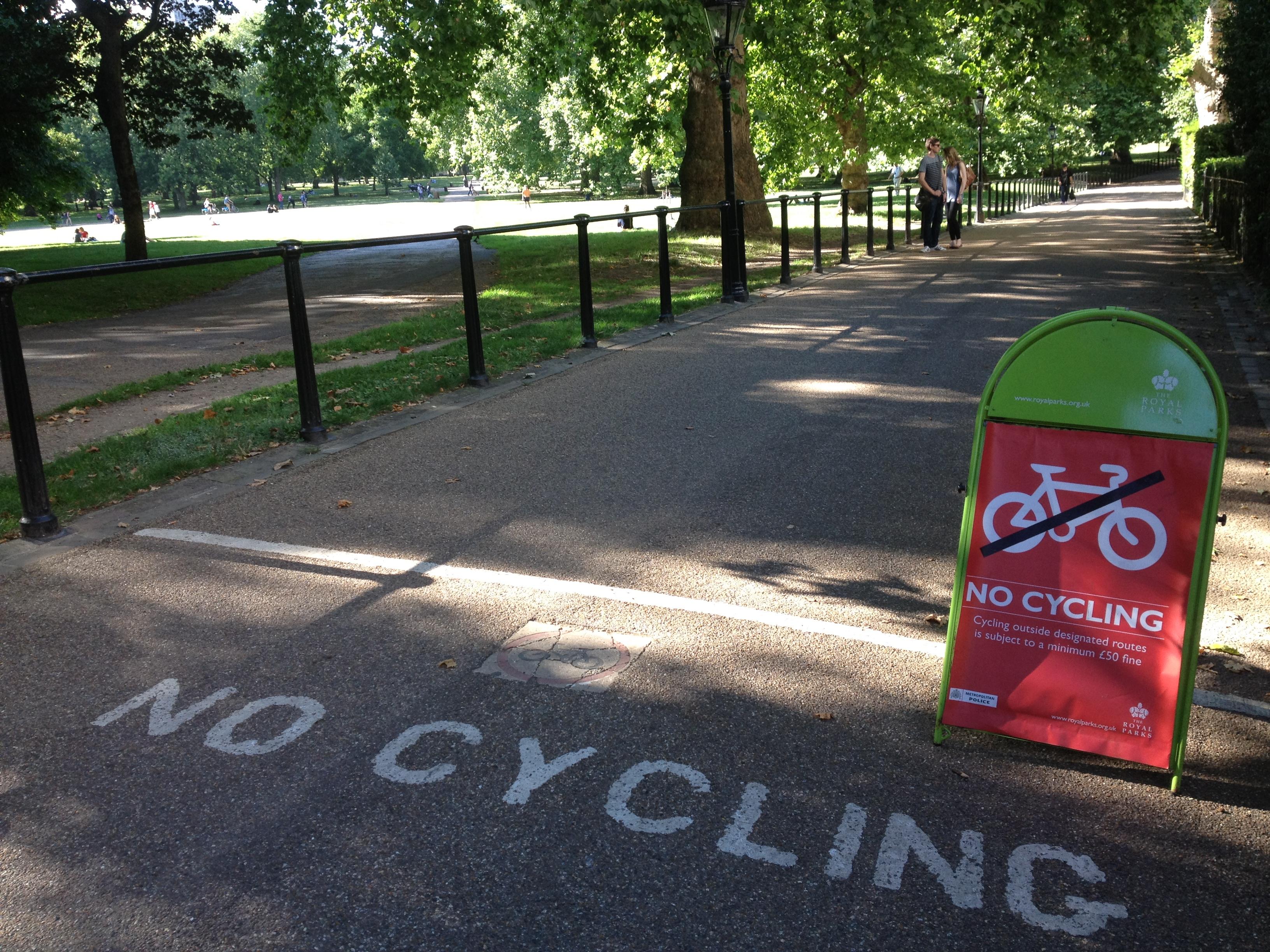 No cycling