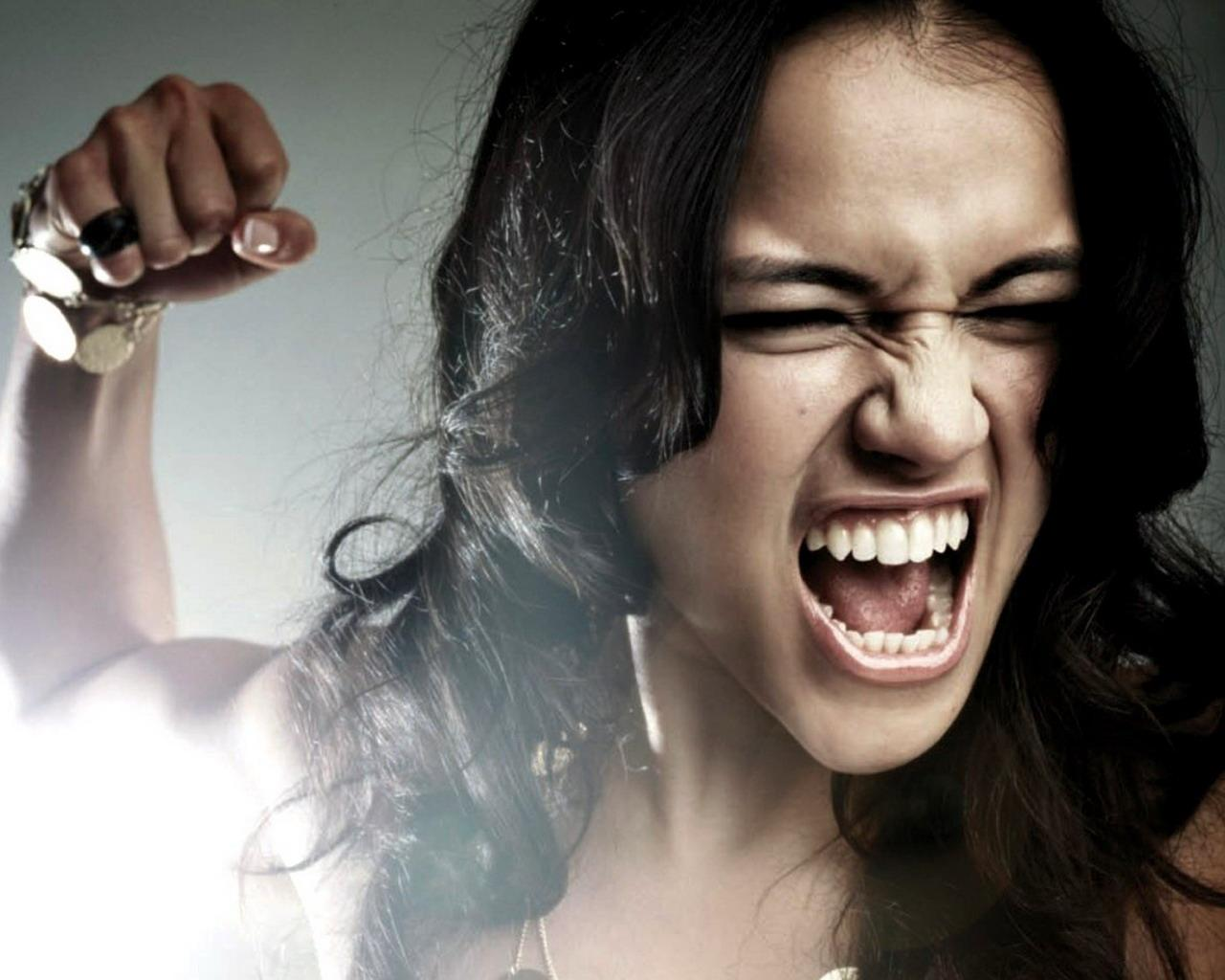 Woman Screaming Anger