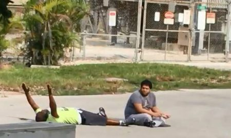 Black Man Shot Lying Down