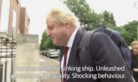 Boris Johnson Heckled