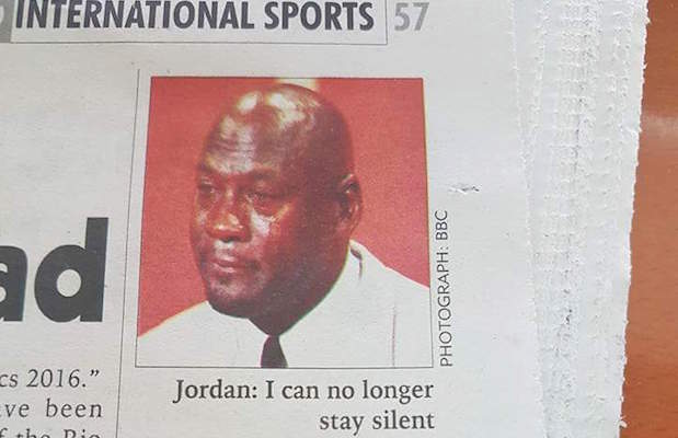 Crying MJ meme story