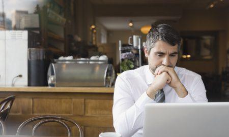 Depressed Man Laptop
