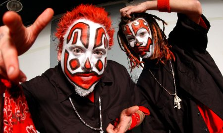 Insane Clown Posse backstage in Chicago