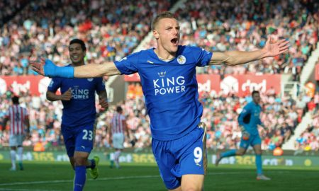 Jamie Vardy Celebrating