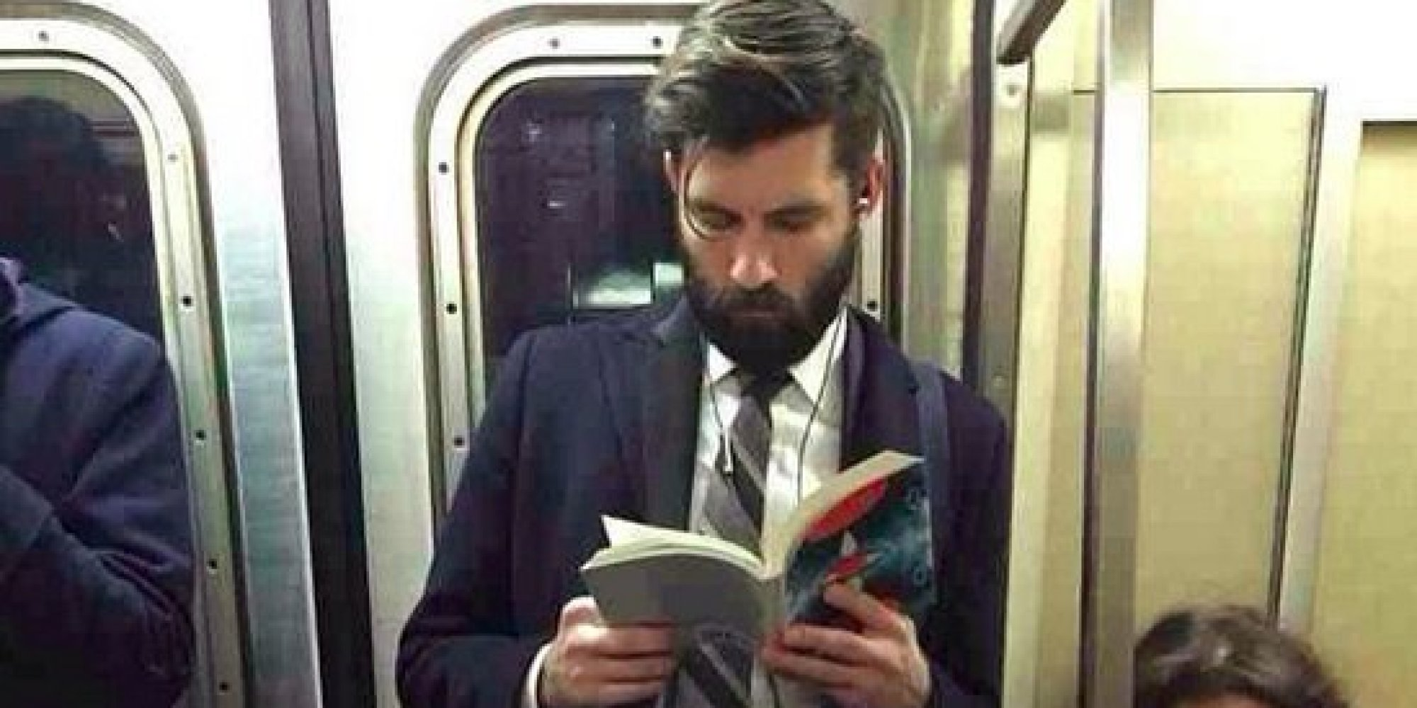 Man Reading Book On Tube Admits He Hates Reading - Sick ...