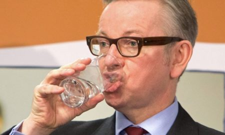Michael Gove Drinking WAter