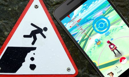 Pokemon Players Fall Off Cliff