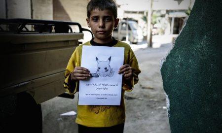 Pokemon Syrian children