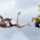Skydiving sumo wrestler