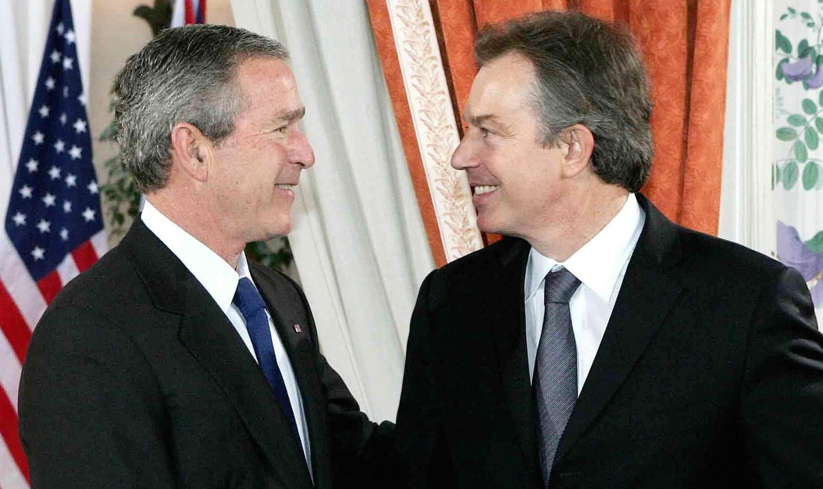 George Bush Tony Blair