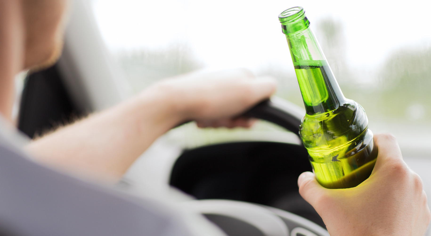 woman drink driving