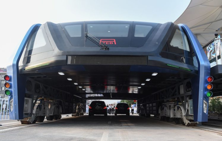 Elevated Road Bus