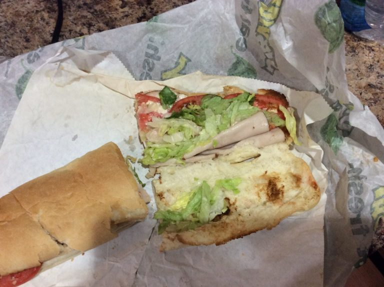 Gross subway sandwich