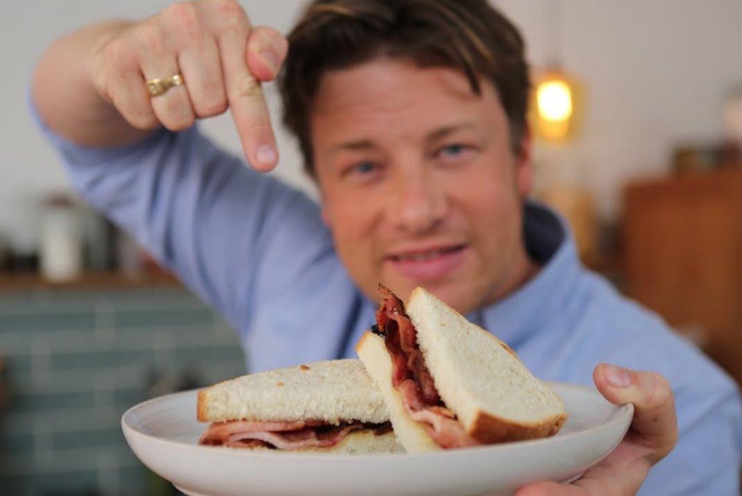 Jamie Oliver bacon sandwich