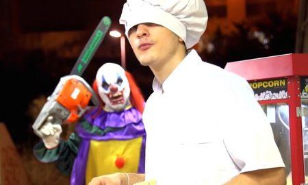 Killer clown prank funny