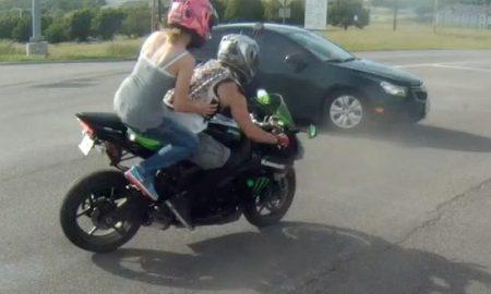 Motorbike Smashes Into Car