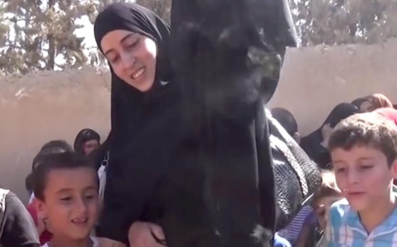 Woman Buying Burqa