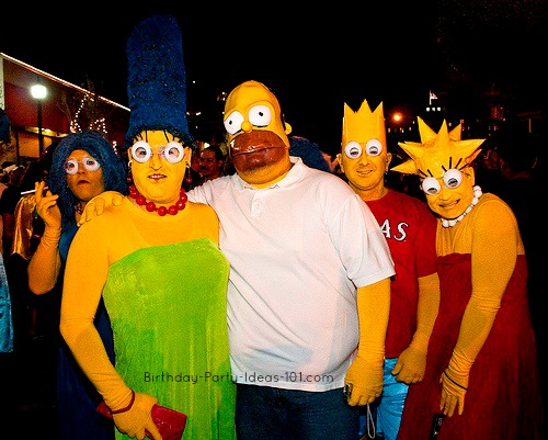 The Simpsons with Selma (or Patty?) in the background