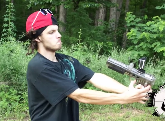 Watch This Absolute Moron Shoot Himself In The Face With A Paintball Gun Sick Chirpse