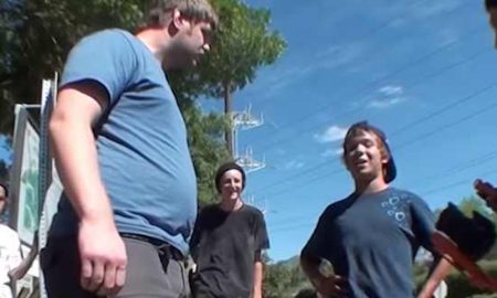 Loser Confronts Skaters