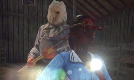 Pitchfork Through Head Jason Voorhees