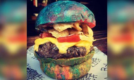 Rainbow Bun BUrger