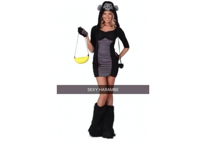 Sexy Harambe costume
