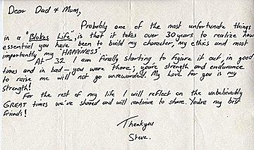 Steve Irwin Note