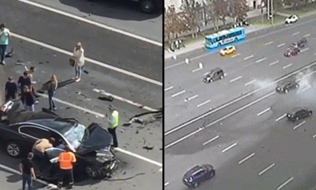Vladimir Putin's Official Car Crash