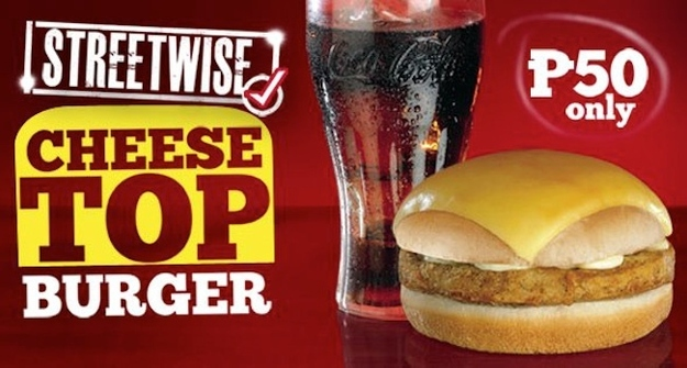 cheese top burger